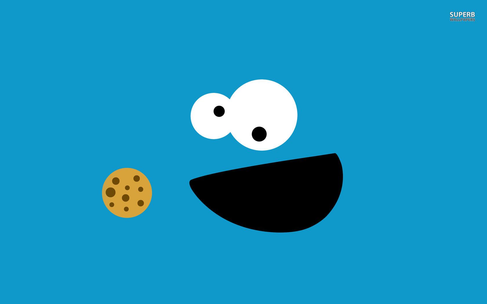 Geek tapeta na pulpit Cookie Monster