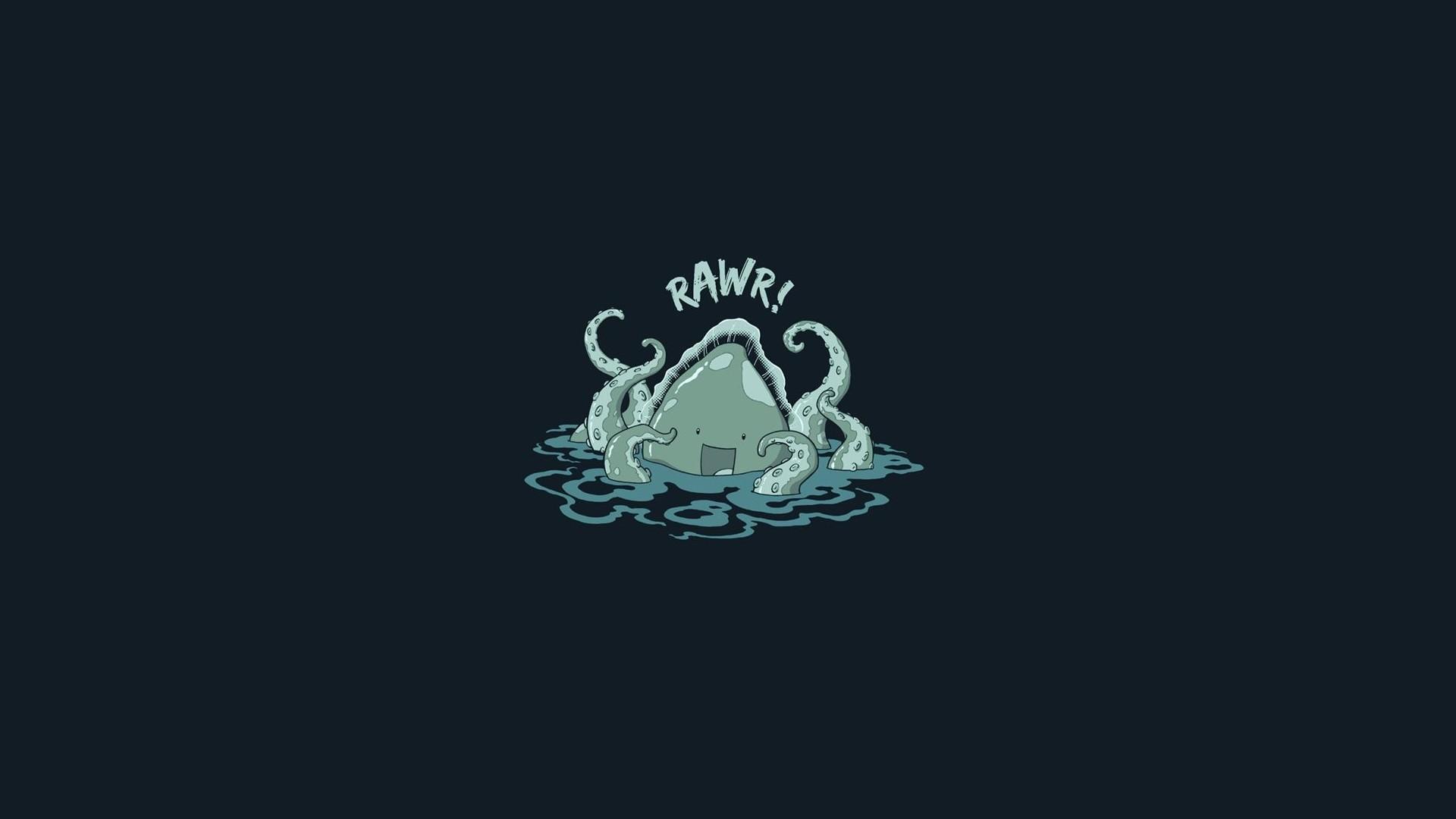 Geek tapeta na pulpit kraken