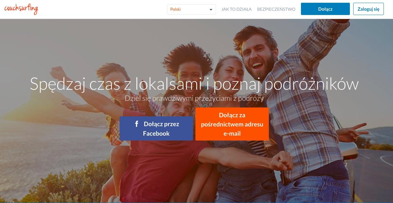 Couchsurfing aplikacje do podróży