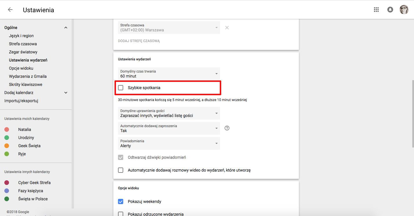 jak korzystać z kalendarza google szybkie spotkania